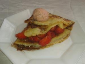 Erdbeer-Schoko Crepes
